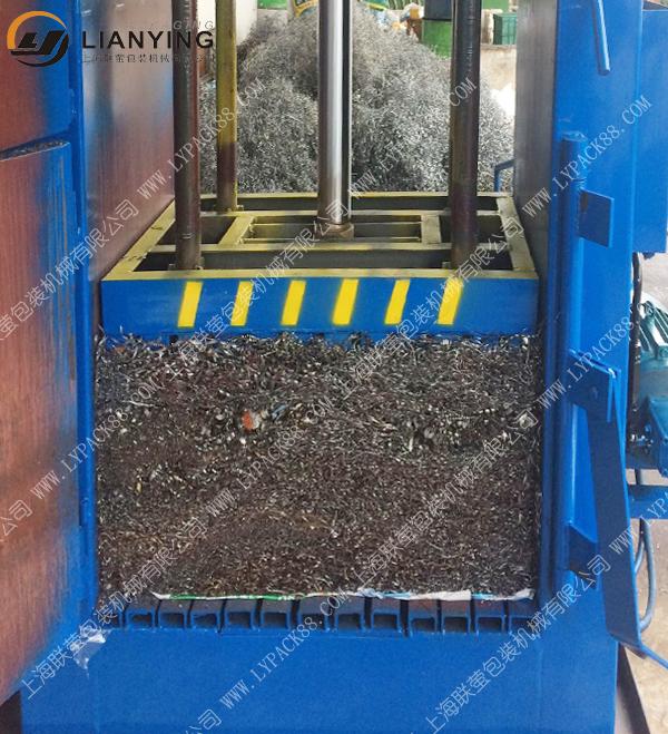 铁刨花液压打包机 边角料打包机