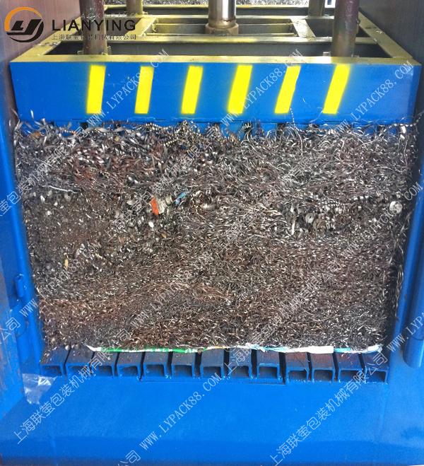金属边角料打包机 铁刨花压块机
